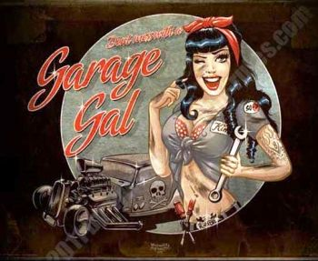 Rumble59 Poster - Garage Girl