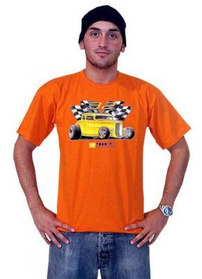 Race Gear T-Shirt Orange - 32 Hot Rod