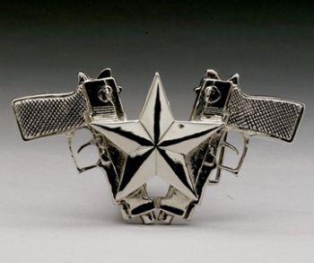 Rock Rebel Buckle B-gunStar chrome
