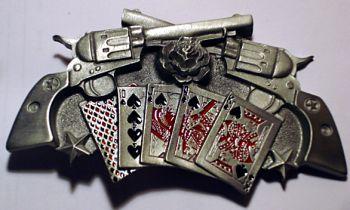 Buckle - Revolver mit Spielkarten
