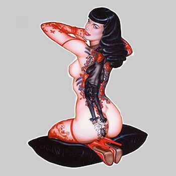 OLIVIA Tattoo Bettie Page Sticker