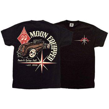 MOON EYES T-Shirt MQT058bk