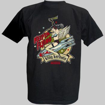 King Kerosin T-Shirt - Bomber Girl