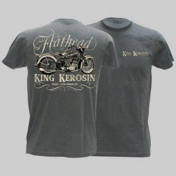 King Kerosin Vintage T-Shirt - Flathead Bike -grau / Limited Edtion