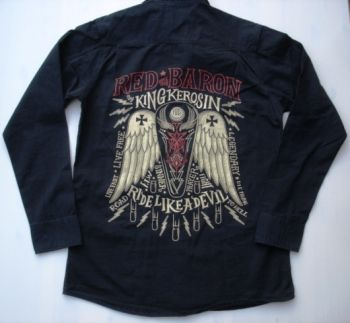 King Kerosin Lang Arm Worker Shirt - Red Baron