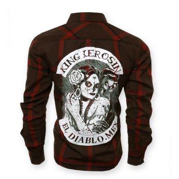 KING KEROSIN Langarm-Holzfäller Shirt-EDM / El Diablo