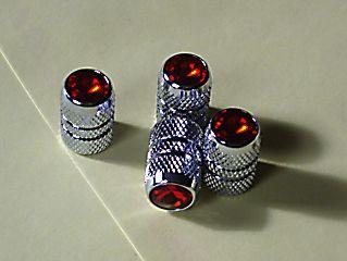 Red Jeweled Air Valve Caps