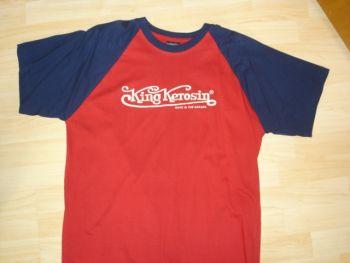 King Kerosin Raglan T-Shirt blue - red / King Kerosin