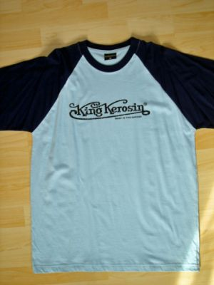 King Kerosin Raglan T-Shirt blau / King Kerosin