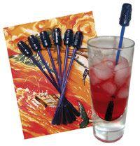 Tikki Cocktail Swizzles Set.