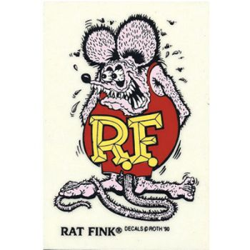 Rat Fink Decal RF-05 rose/red