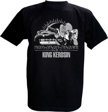 King Kerosin T-Shirt - Bad flat Black