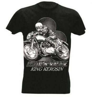 King Kerosin Slub Jersey T-Shirt  Tjm-BRC / British Racer