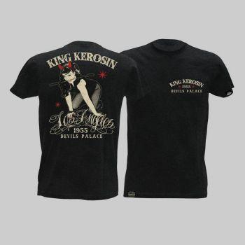 King Kerosin Slub Jersey T-Shirt - LosAngeles/Tjm-Rnd