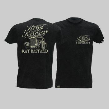 King Kerosin Slub Jersey T-Shirt - Rat Bastard/Tjm-Rnh