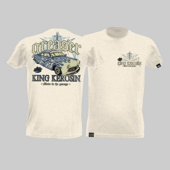 King Kerosin Slub Jersey T-Shirt - Greaser/Tjm2-Rnk3