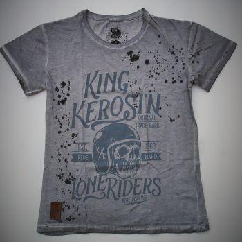 Mechanic-Shirt von King Kerosin - Lone Riders /grey