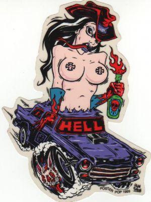 Alain Forbess Sticker - Hell Car