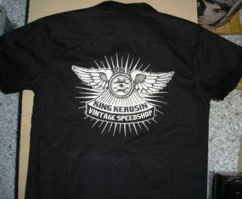 KING KEROSIN Dragstrip Shirt / Vintage Speedshop