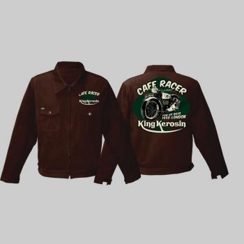King Kerosin *Limited Edition* Workerjacket brown - Cafe Racer / Limited Edition