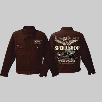 King Kerosin *Limited Edition* Workerjacket braun - Speed Shop /  Limited Edition