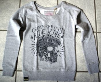 Sweatshirt Ride or Die von Queen Kerosin / grey