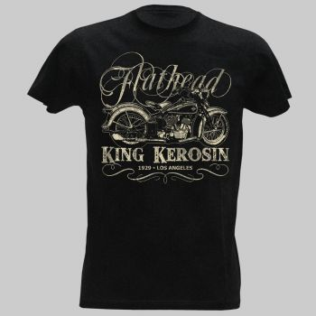 King Kerosin Vintage T-Shirt - Flathead Bike