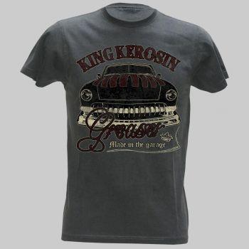 King Kerosin Vintage T-Shirt grau - Greaser