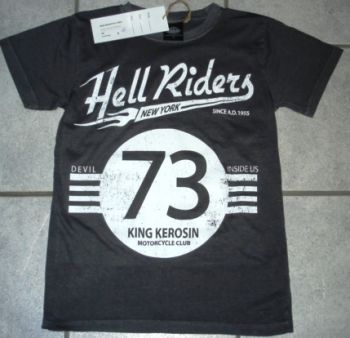 King Kerosin Vintage T-Shirt - Hell Riders New York / grau