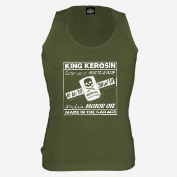 King Kerosin Tank Top grün - Rockin Motor Oil