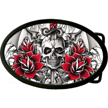 Buckle B-Rose Wings Skull