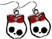 Ohrhänger Skully - Rot
