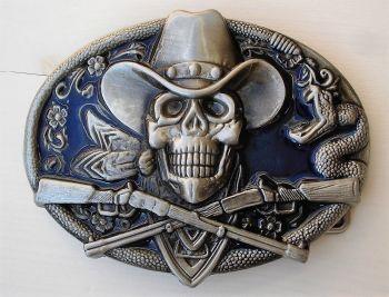 Buckle B- Western Skull / Winchester