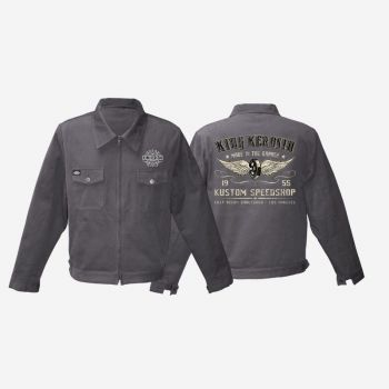 King Kerosin Workerjacket grau - Kustom Speed Shop