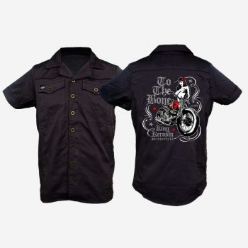 KING KEROSIN Limited Edition RETRO Shirt / CS7-TTB / to the Bone