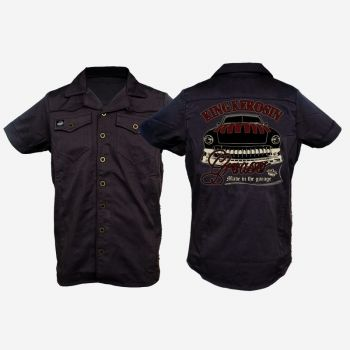 KING KEROSIN Limited Edition RETRO Shirt / CS7-NGR / Greaser