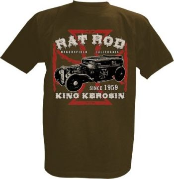 King Kerosin T-Shirt braun - Rat Rod