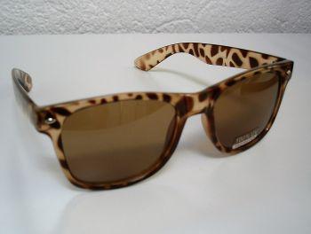 Leopard Hornbrille braun  / SB-Cts20210