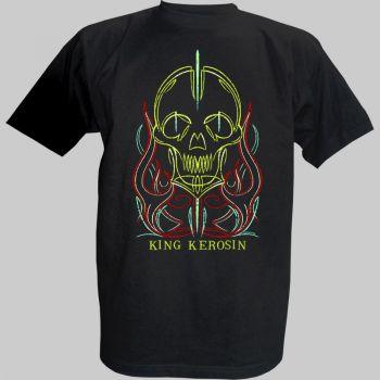 King Kerosin T-Shirt - Pinstripe Skull