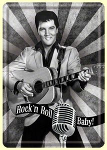 Blechpostkarte - Elvis / Rock`n Roll Baby