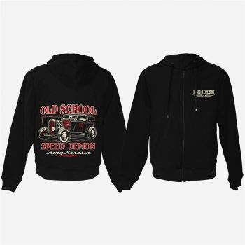 King Kerosin Bestickte Hoodie Jackets - Old School Rodder / Limited Edition
