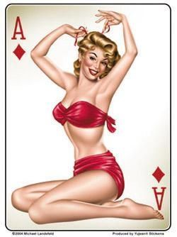 Large Pin up Sticker / St-JA469
