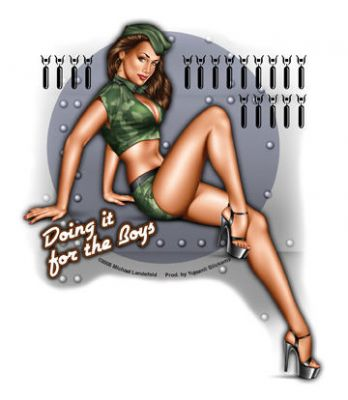 Grosser Pin up Sticker - Doing it for the Boys