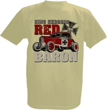 King Kerosin T-Shirt offwhite / Red Baron