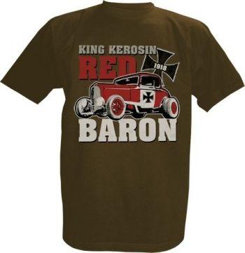 King Kerosin T-Shirt braun - Red Baron brown