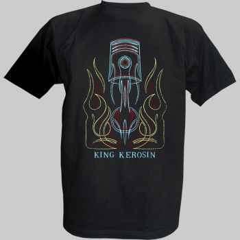 King Kerosin T-Shirt - Pinstripe Piston""