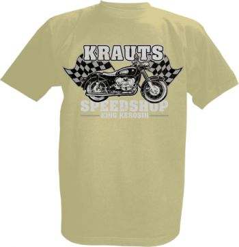 King Kerosin T-Shirt offwhite / Krauts Motorcycles Speedshop
