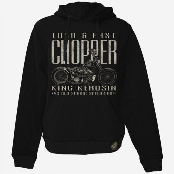 King Kerosin Hoodie Gestickt HS-Loud and Fast Chopper