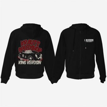 King Kerosin Bestickte Hoodie Jackets - Krauts Speedshop - Limited Edition