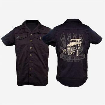 KING KEROSIN Limited Edition RETRO Shirt  / CS7-EHW Gestickt